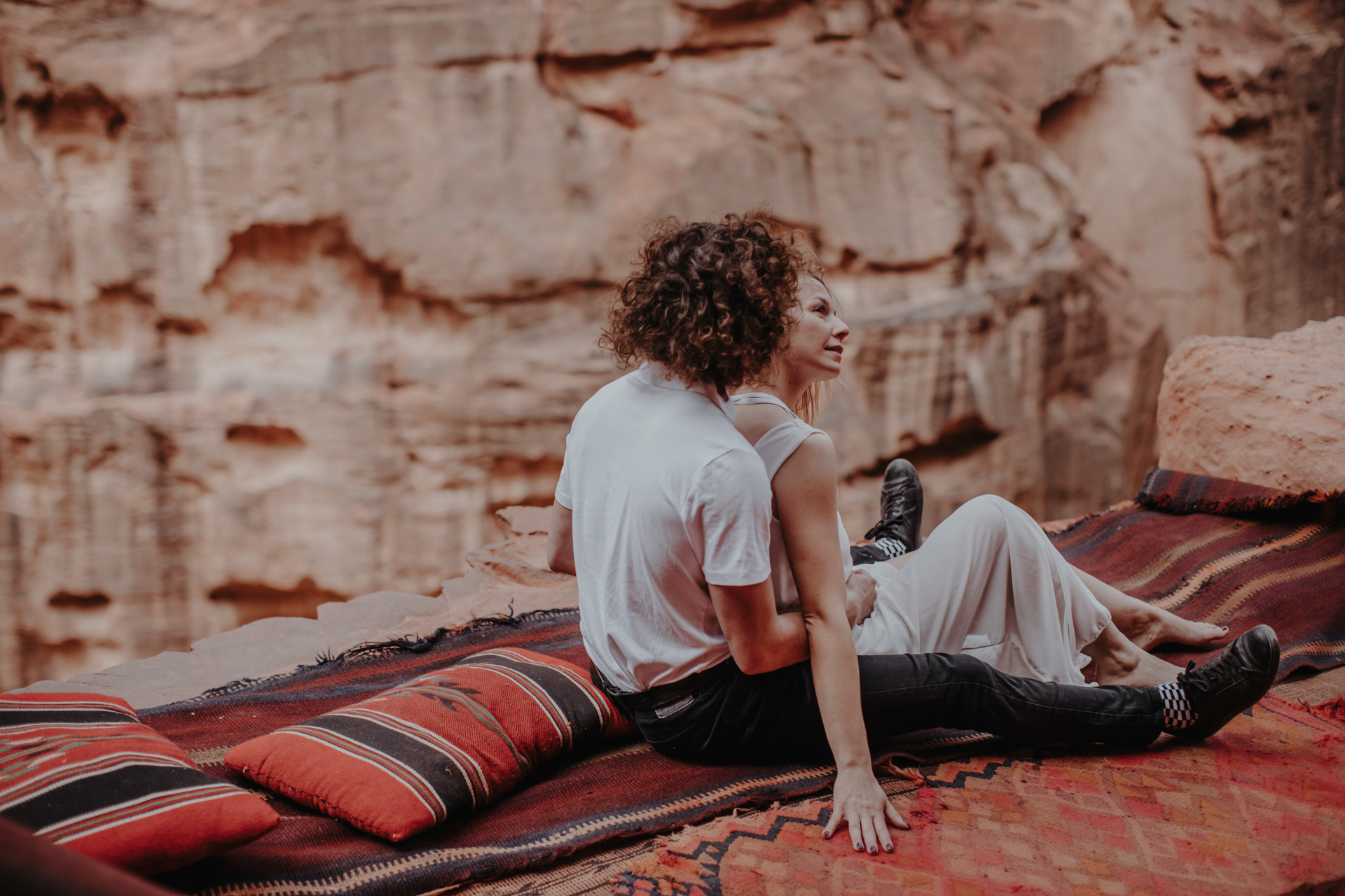 Sesja narzeczeńska Ani i Grześka w Petrze w Jordanii